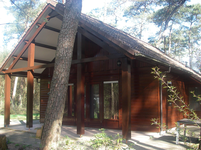 houten chalet vakantiepark Otterlo